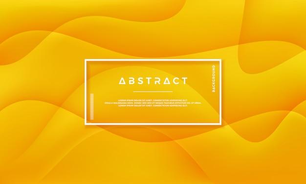 Fundo dinâmico abstrato do vetor do amarelo alaranjado.
