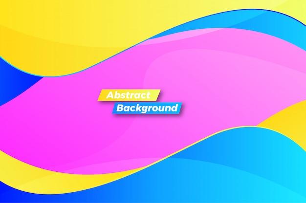 Fundo dinâmico abstrato onda colorida
