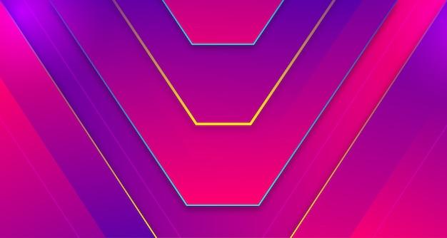 Fundo dinâmico com formas gradientes