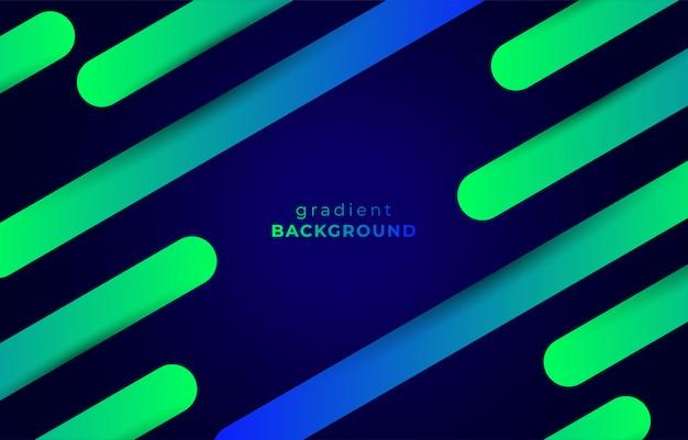 Fundo dinâmico de listras líquidas com gradiente verde e azul
