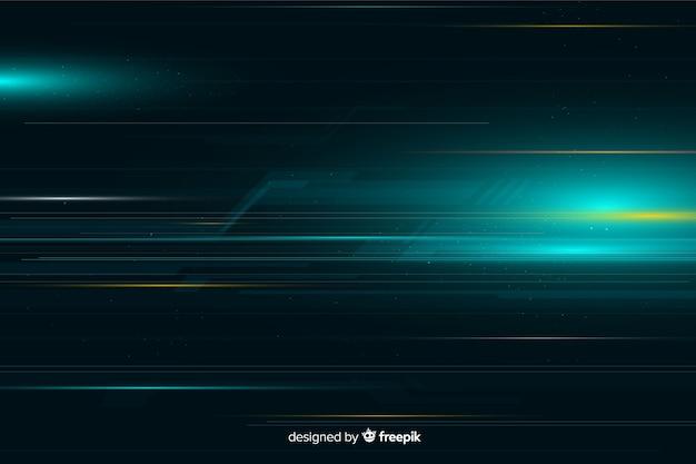Fundo dinâmico do movimento da luz