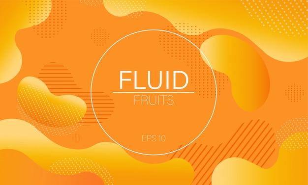 Fundo dinâmico fluido amarelo bolha