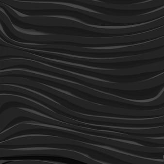 Fundo dinâmico ondulado de vetor preto