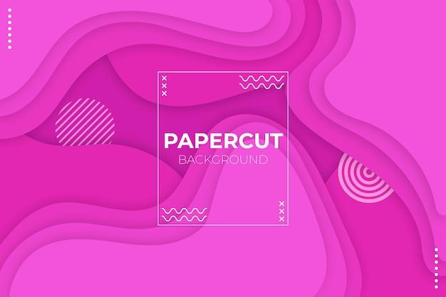 Fundo dinâmico rosa estilo papel
