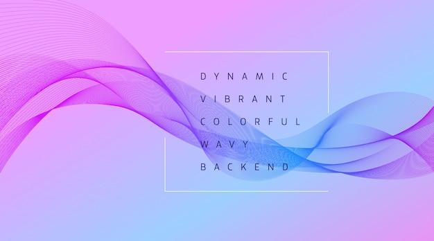 Fundo dinâmico vibrante onda colorida