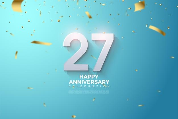 Fundo do 27º aniversário.