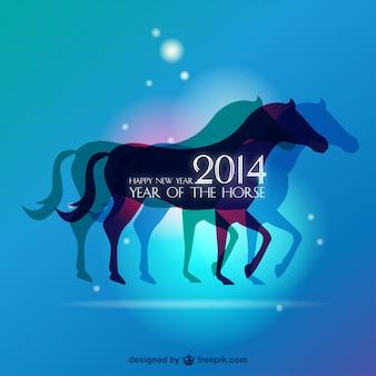 Fundo do ano cavalo conceito