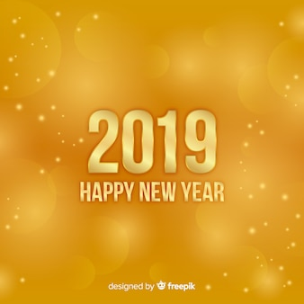 Fundo do ano novo 2019 turva