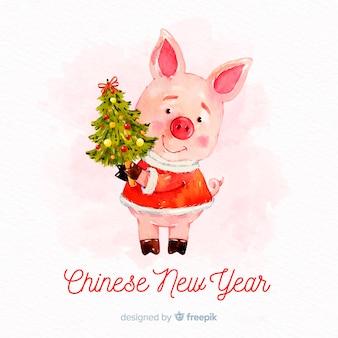 Fundo do ano novo chinês de 2019