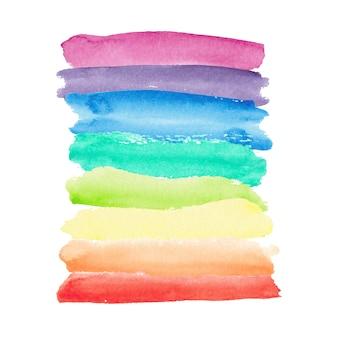 Fundo do arco-íris em aquarela.