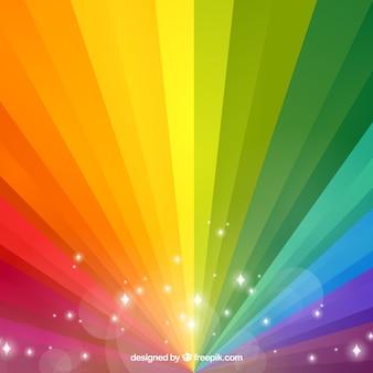 Fundo do arco-íris no gradiente