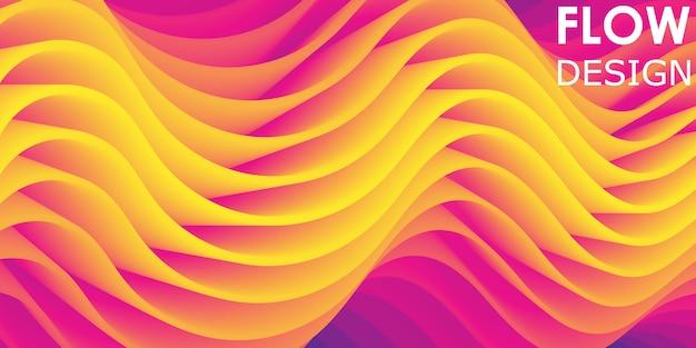 Fundo do arco-íris. padrão de onda. o fluxo de fluido.