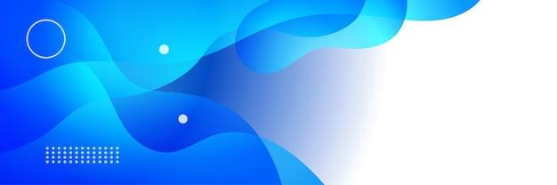 Fundo do banner da tecnologia do abstrato da web da tecnologia futurista da tecnologia azul com listras azuis da onda branca