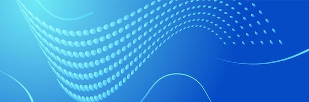 Fundo do banner da tecnologia do abstrato da web da tecnologia futurista da tecnologia azul com listras brancas azuis