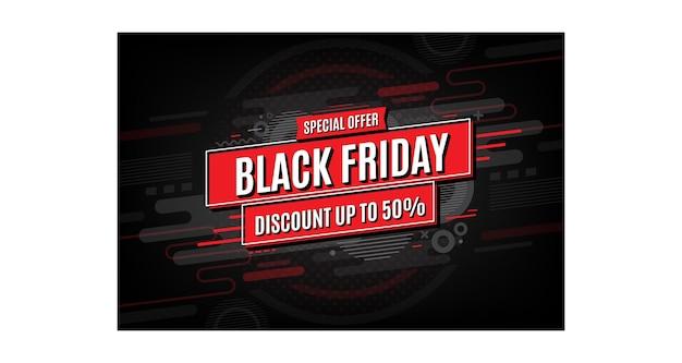 Fundo do banner de venda da black friday