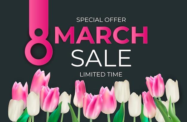 Fundo do banner de venda de março
