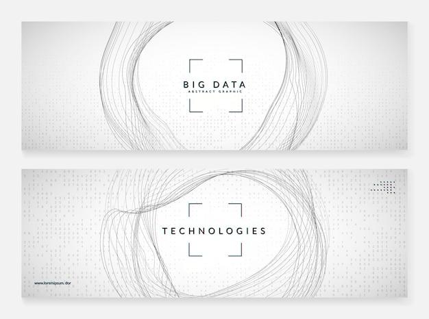 Fundo do banner do computador com inovação quântica