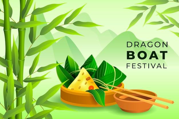 Fundo do barco do dragão design realista