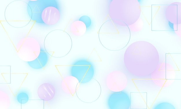 Fundo do bebê. padrão de azul suave. decoração criativa. bolas rosa, azuis e violetas. conceito divertido. ilustração. fundo de bebê fofo.