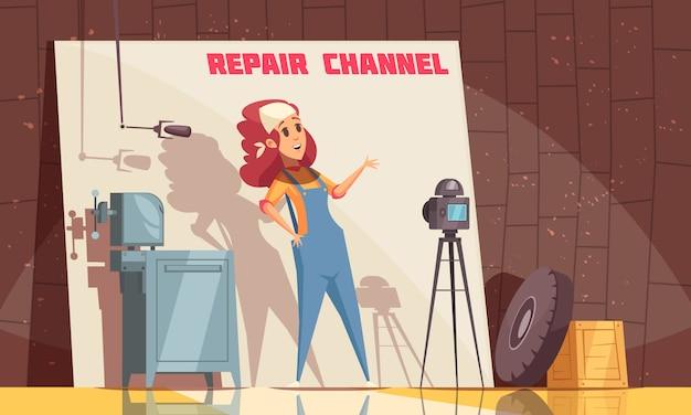 Fundo do blog do canal de reparo