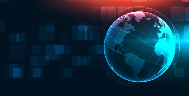 Fundo do boletim de notícias da terra de tecnologia global
