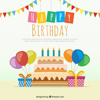 Fundo do bolo de aniversário