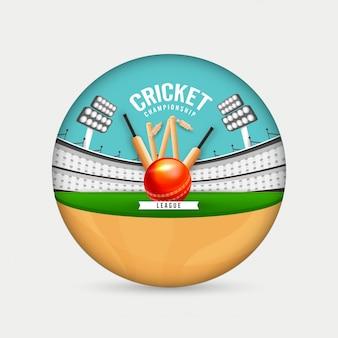 Fundo do campeonato de críquete.