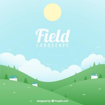 Fundo do campo colorido