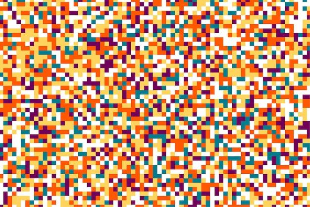Fundo do caos com pontos coloridos de pixels