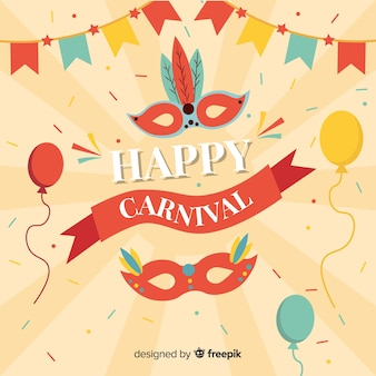 Fundo do carnaval de sunburst