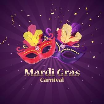 Fundo do carnaval mardi gras