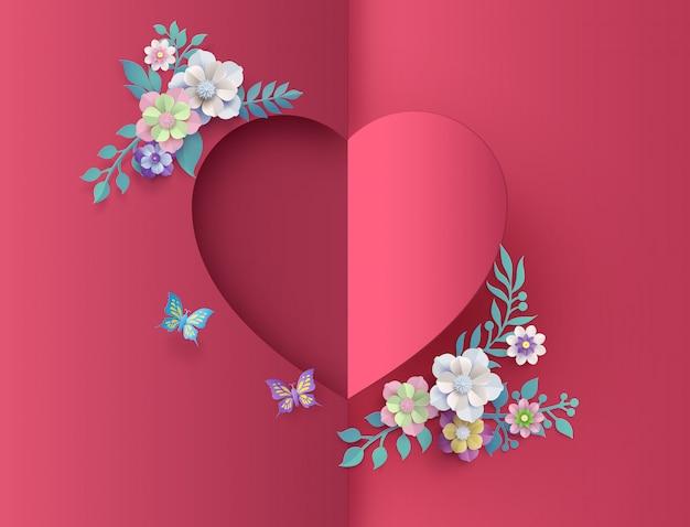 Fundo do cartão de amor e dia dos namorados