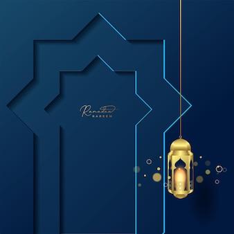 Fundo do cartão ramadan kareem