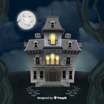 Fundo do castelo de halloween
