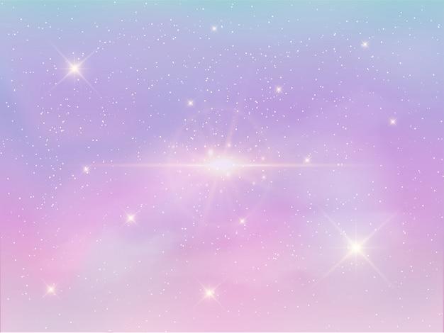 Fundo do céu à noite na cor pastel