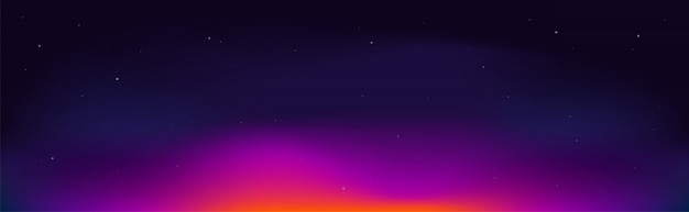 Fundo do céu à noite. pôr do sol cósmico.