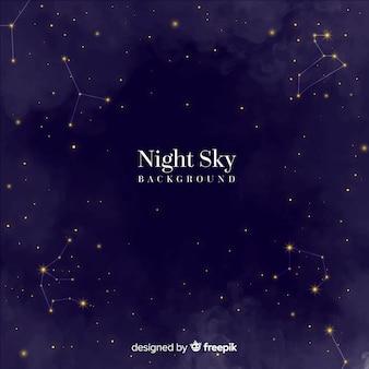 Fundo do céu à noite
