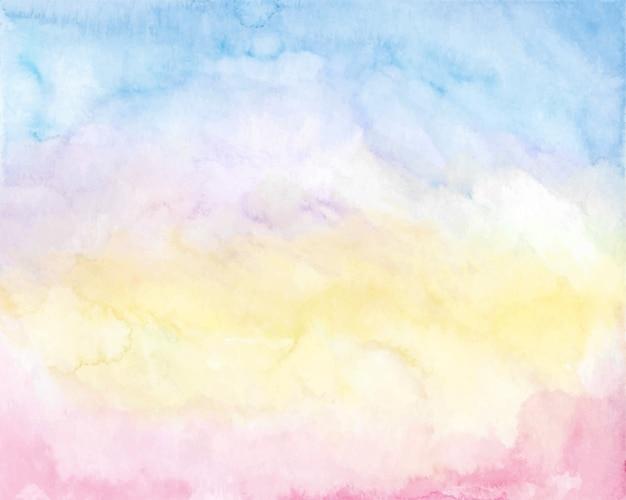 Fundo do céu do nascer do sol em aquarela