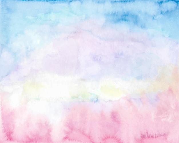 Fundo do céu em aquarela de manhã