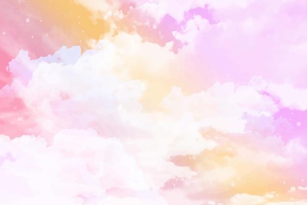 Fundo do céu em aquarela pastel