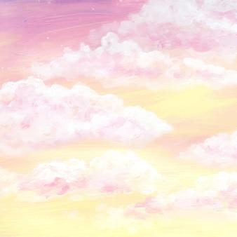 Fundo do céu em aquarela pintada à mão