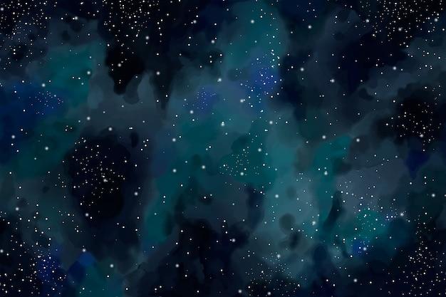 Fundo do céu escuro em aquarela
