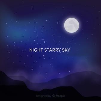 Fundo do céu nocturno estrelado