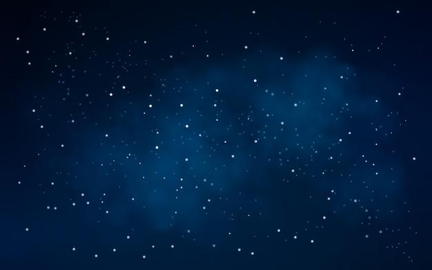 Fundo do céu noturno com estrelas