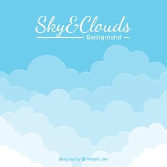 Fundo do céu nublado em estilo simples