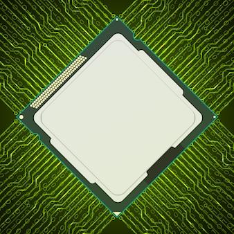 Fundo do chip eletrônico