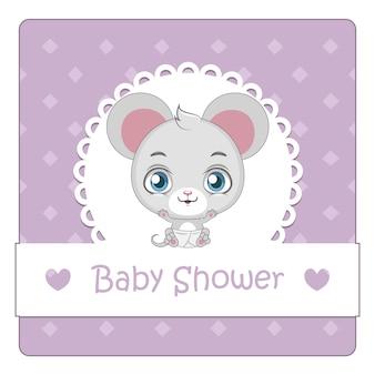 Fundo do chuveiro do bebê com rato