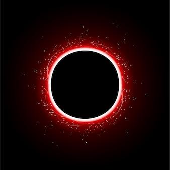Fundo do círculo de luz vermelha