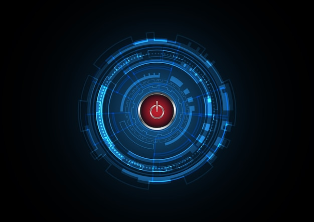 Fundo do círculo futuro do poder abstrato da tecnologia