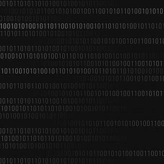 Fundo do código binário abstrato